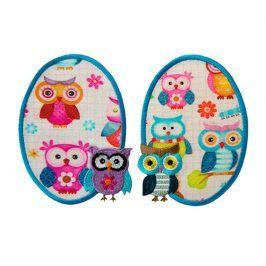 Sticker BASIC Owls 2 ks PATCH