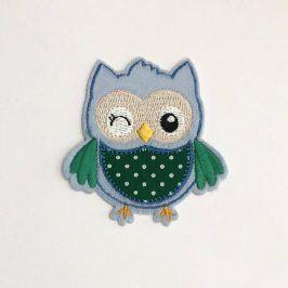 Sticker BASIC Owl blue
