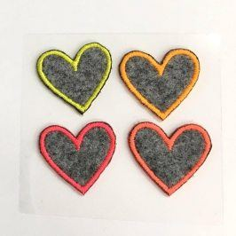 Sticker MIDI Neon Hearts