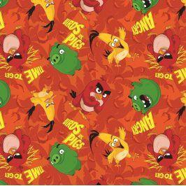 Úplet Angry birds orange