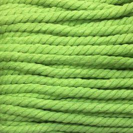 Bavlnená šnúra točená 15 mm limetka