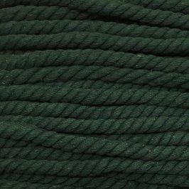 Bavlnená šnúra točená 15 mm zelená tmavá