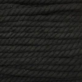Bavlnená šnúra točená 15 mm čierna