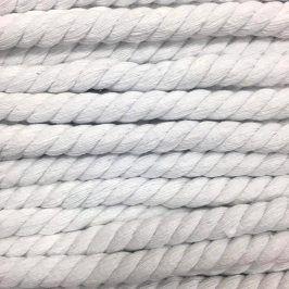 Bavlnená šnúra točená 15 mm biela