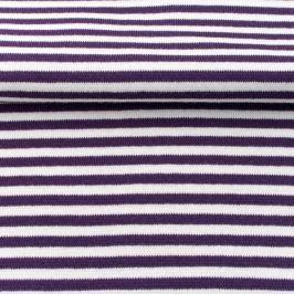 Patent hladký Pásik purple/white