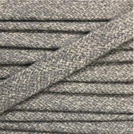 Bavlnená šnúra plochá 17 mm melír sivá bledá