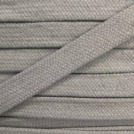 Bavlnená šnúra plochá 17 mm sivá bledá