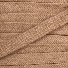 Bavlnená šnúra plochá 17 mm béžová
