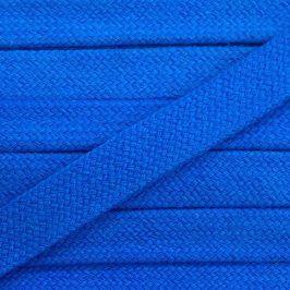 Bavlnená šnúra plochá 17 mm modrá