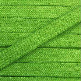 Bavlnená šnúra plochá 17 mm zelená