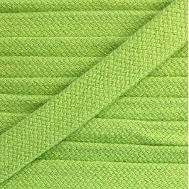 Bavlnená šnúra plochá 17 mm limetka