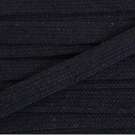 Bavlnená šnúra plochá 17 mm čierna