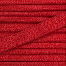 Bavlnená šnúra plochá 17 mm červená