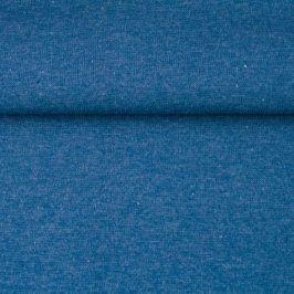 Patent hladký melír dark blue