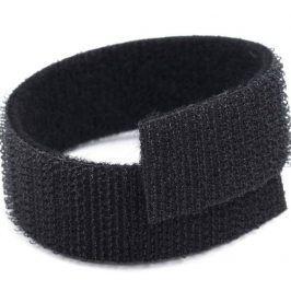 Suchý zips obojstranný 2 cm čierna