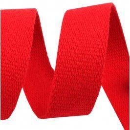 Popruh bavlna 3 cm červená