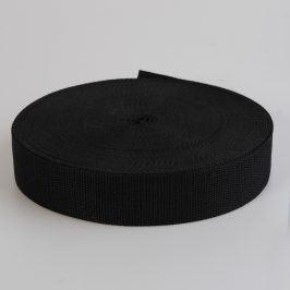 Popruh bavlna 3 cm čierna