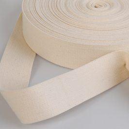 Popruh bavlna 4 cm režná