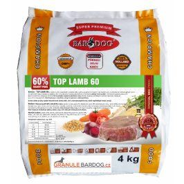 Bardog Top Lamb 60 lisované za studena - 4 kg