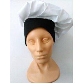 Vysoká kuchárska čiapka - dvojfarebná béžová,tyrkysová