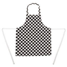 DETSKÁ kuchárska zástera - čierno-biela šachovnica