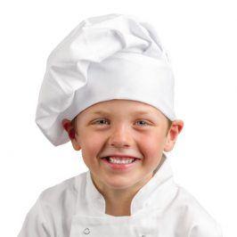 Vysoká kuchárska čiapka DETSKÁ - rôzne farby/vzory žltá
