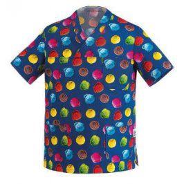 Kuchárska košeľa modrá - motív zmrzlina S