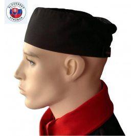 Cool vent vzdušná kuchárska čiapka - rôzne farby Jemné biele pásy,na suchý zips