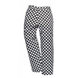 Kuchárske nohavice - čierno-biela šachovnica XS