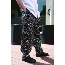 Kuchárske nohavice 100% bavlna - motív gastro S
