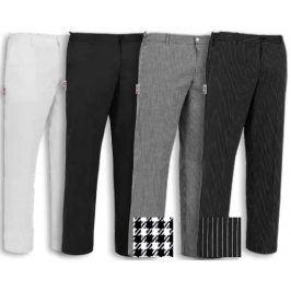 Kuchárske nohavice EVO, na gombík - rôzne farby Biela,XS