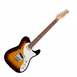 Fender Deluxe Telecaster Thinline, Rosewood Fingerboard, 3-Color Sunburst