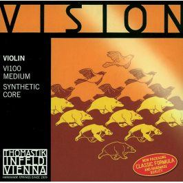 Thomastik Strings For Violin Vision synthetic core G Silver wound