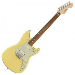 Fender Duo-Sonic HS, Pau Ferro Fingerboard, Canary Diamond