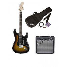 Squier  Affinity Series Stratocaster HSS Pack, Brown Sunburst, 230V EUR