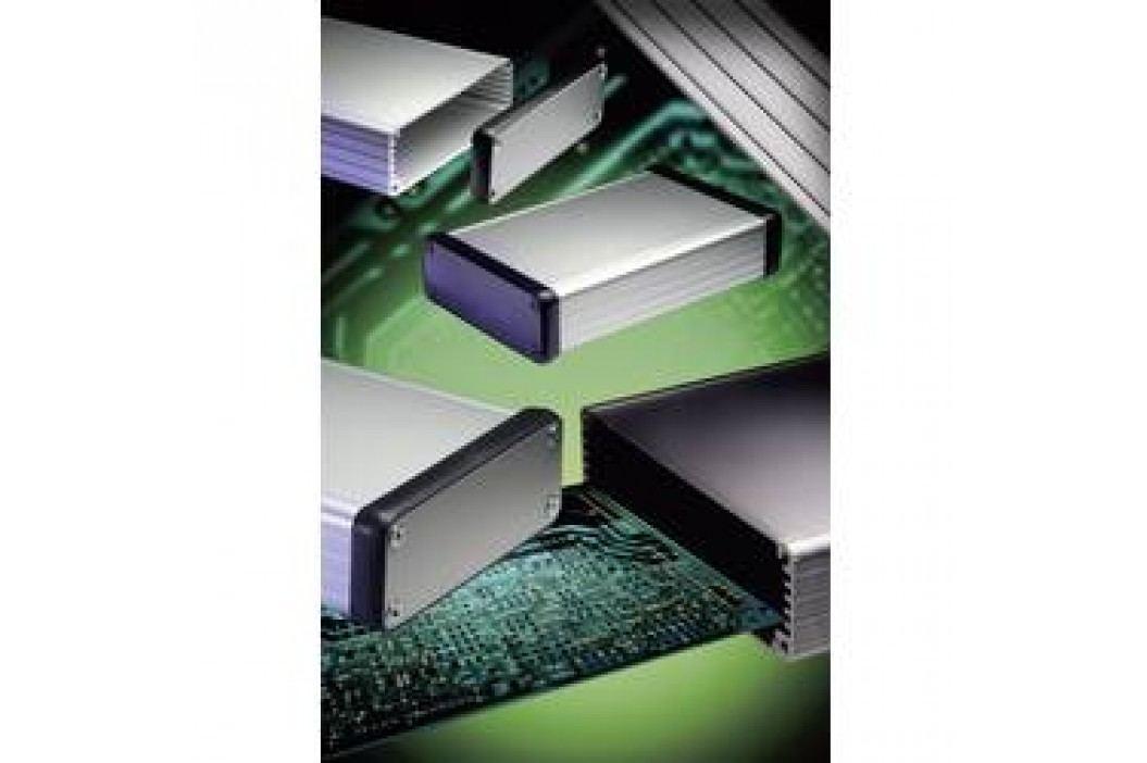 Profilové puzdro Hammond Electronics 1455R1602BK 1455R1602BK, 163 x 160 x 30.5 , hliník, čierna, 1 ks