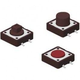 Tlačidlo Diptronics DTSM-24R-V-T/R, 12 V/DC, 0.05 A, červená, 500 ks
