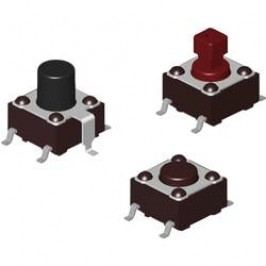 Tlačidlo Diptronics DTSM-644N-V-T/R, 12 V/DC, 0.05 A, hnedá, 700 ks