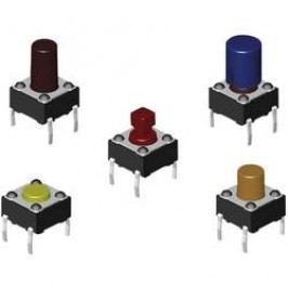 Tlačidlo Diptronics DTS-65K-V, 12 V/DC, 0.05 A, čierna, 1000 ks