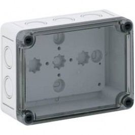Inštalačná krabička Spelsberg TK PS 1309-6-tm 10600901, (d x š x v) 130 x 94 x 57 mm, polykarbonát, polystyrén, svetlo sivá (RAL 7035), 1 ks