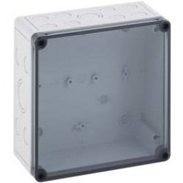 Inštalačná krabička Spelsberg TK PS 1818-8f-tm 10651301, (d x š x v) 182 x 180 x 84 mm, polykarbonát, polystyrén, svetlo sivá (RAL 7035), 1 ks