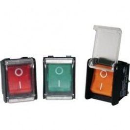 Kolískový spínač s aretáciou Arcolectric C1353AHNAA, 250 V, 16 A, 1x vyp/zap, Farba svetla: červená, 1 ks