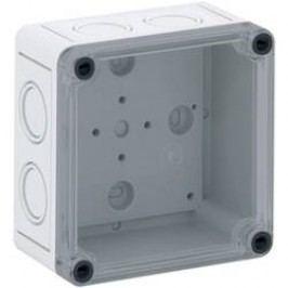 Inštalačná krabička Spelsberg TK PC 99-6-TM 13700301, (d x š x v) 94 x 94 x 57 mm, polykarbonát, svetlo sivá, 1 ks