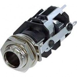 Jack konektor 6.35 mm stereo zásuvka, vstavateľná vertikálna Rean AV RJ5VM-D1-CON, pinov 5, čierna, 1 ks