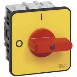 Odpínač BACO BA172402 BA0172402, 80 A, 1 x 90 °, žltá, červená, 1 ks