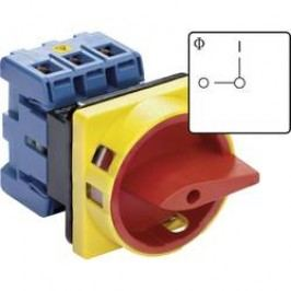 Odpínač odblokovateľný Kraus & Naimer KG80 T203/01 E KG80 T203/01 E, 80 A, 1 x 90 °, červená, žltá, 1 ks