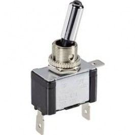 Páčkový prepínač do auta TRU COMPONENTS TC-R13-404L BL LED, 12 V/DC, 20 A, s aretáciou, 1 ks