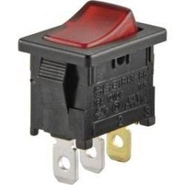 Kolískový spínač s aretáciou TRU COMPONENTS TC-R13-66B-02 LED 12V/DC, 12 V/DC, 16 A, 1x vyp/zap, Farba svetla: červená, 1 ks