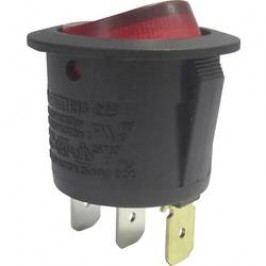 Kolískový spínač s aretáciou TRU COMPONENTS TC-R13-223B-01 R, 250 V/AC, 10 A, 1x vyp/zap, Farba svetla: červená, 1 ks