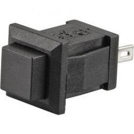 Tlačidlo TRU COMPONENTS TC-R13-57A-05BK, 250 V/AC, 0.5 A, čierna, 1 ks